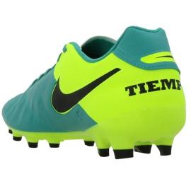 Buty piłkarskie Nike Tiempo Genio Ii Fg M 819213-307 czarne turkusowy 3