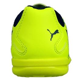 Buty halowe Puma Adreno Iii In Jr 104050 09 zielone żółte 1
