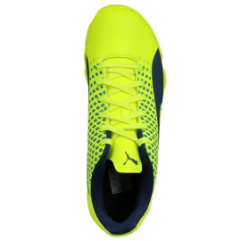 Buty halowe Puma Adreno Iii In Jr 104050 09 zielone żółte 2