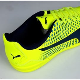 Buty halowe Puma Adreno Iii In Jr 104050 09 zielone żółte 3
