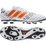 Buty piłkarskie adidas Nemeziz Messi 17.4 FxG M S77199 biały, pomarańczowy białe 2