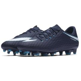 Buty piłkarskie Nike Hypervenom Phelon Iii Fg M 852556-414 granatowe granatowe 3