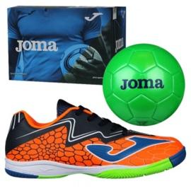 Buty halowe Joma Super Copa In Jr SCJS.808.IN pomarańczowe zielone 2