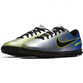 Buty piłkarskie Nike MercurialX Vortex Iii Neymar Tf Jr 921497-407 wielokolorowe niebieskie 2