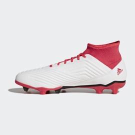Buty piłkarskie adidas Predator 18.3 Fg M CM7667 białe białe 1