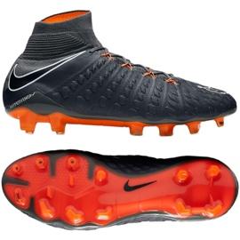 Buty piłkarskie Nike Hypervenom Phantom 3 Elite Df Fg M AH7270-081 szare szare 3