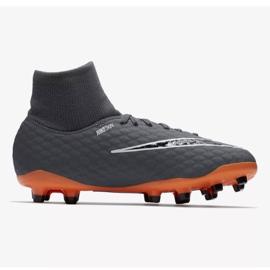 Buty piłkarskie Nike Hypervenom Phantom 3 Academy Df Fg Jr AH7287-081 szare wielokolorowe 1