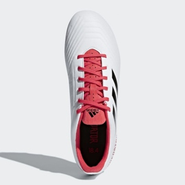 Buty piłkarskie adidas Predator 18.4 FxG M CM7669 białe wielokolorowe 2