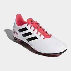 Buty piłkarskie adidas Predator 18.4 FxG M CM7669 białe wielokolorowe 3