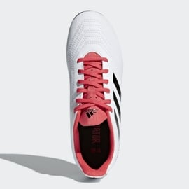 Buty piłkarskie adidas Predator 18.4 FxG Jr CP9241 białe wielokolorowe 2