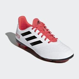 Buty piłkarskie adidas Predator 18.4 FxG Jr CP9241 białe wielokolorowe 3