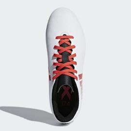 Buty piłkarskie adidas X 17.4 FxG Jr CP9015 białe wielokolorowe 1