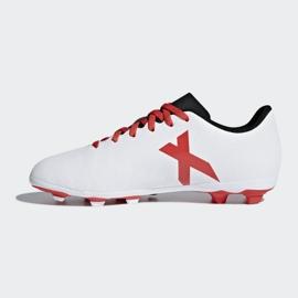 Buty piłkarskie adidas X 17.4 FxG Jr CP9015 białe wielokolorowe 2