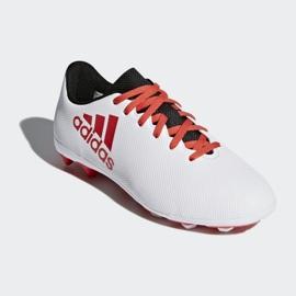 Buty piłkarskie adidas X 17.4 FxG Jr CP9015 białe wielokolorowe 3
