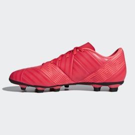 Buty piłkarskie adidas Nemeziz 17.4 FxG M CP9007 czerwone wielokolorowe 1