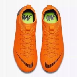 Buty piłkarskie Nike Mercurial Superfly 6 Academy Gs Mg Jr AH7337-810 pomarańczowe wielokolorowe 2