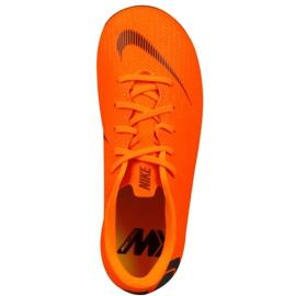 Buty piłkarskie Nike Mercurial Vapor 12 Academy Ps Mg Jr AH7349-810 pomarańczowe pomarańczowe 1