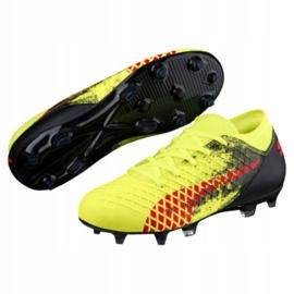 Buty piłkarskie Puma Furure 18.4 Fg Ag Jr 104346 01 żółte wielokolorowe 1