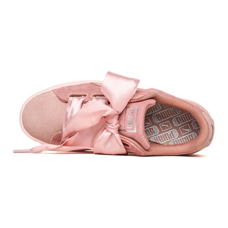 Różowe Buty Puma Suede Heart Pebble W 365210 01 zdjęcie 2