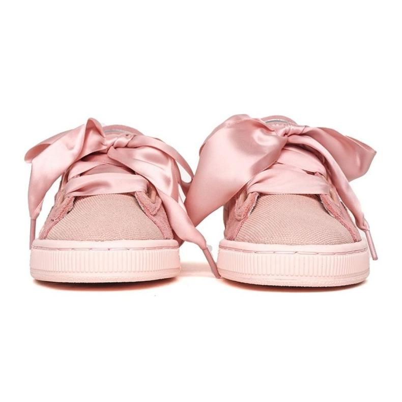 Różowe Buty Puma Suede Heart Pebble W 365210 01 zdjęcie 3