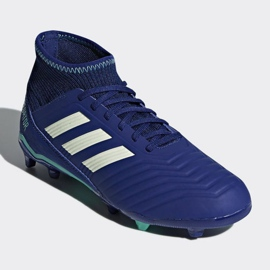 Buty piłkarskie adidas Predator 18.3 Fg Junior CP9012 niebieskie niebieskie 3