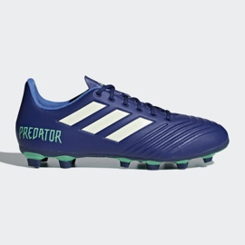 Buty piłkarskie adidas Predator 18.4 FxG M CP9267 niebieskie wielokolorowe 3