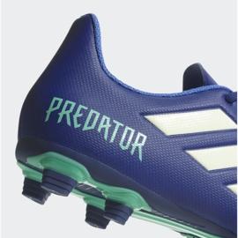 Buty piłkarskie adidas Predator 18.4 FxG M CP9267 niebieskie wielokolorowe 4