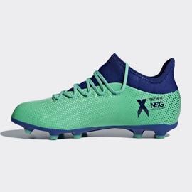 Buty piłkarskie adidas X 17.1 Fg Jr CP8980 wielokolorowe niebieskie 1
