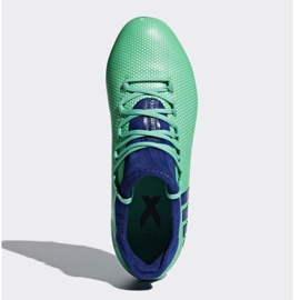 Buty piłkarskie adidas X 17.1 Fg Jr CP8980 wielokolorowe niebieskie 2