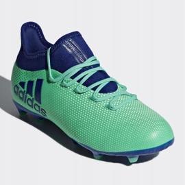 Buty piłkarskie adidas X 17.1 Fg Jr CP8980 wielokolorowe niebieskie 3