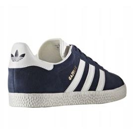 Buty adidas Originals Gazelle Jr BY9144 białe granatowe 1