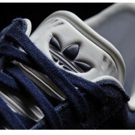 Buty adidas Originals Gazelle Jr BY9144 białe granatowe 3