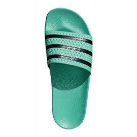 Klapki adidas Originals Adilette Slides U CQ3100 czarne zielone 1
