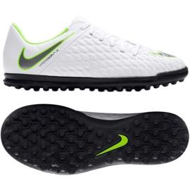 Buty piłkarskie Nike Hypervenom Phantomx 3 Club Tf Jr AJ3790-107 białe wielokolorowe 3