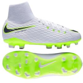 Buty piłkarskie Nike hypervenom Phantom 3 Academy Df Fg Jr AH7287-107 wielokolorowe białe 2