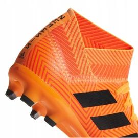 Buty piłkarskie adidas Nemeziz 18.3 Fg Jr DB2352 pomarańczowe wielokolorowe 2