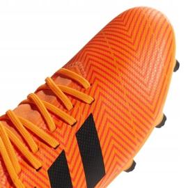 Buty piłkarskie adidas Nemeziz 18.3 Fg Jr DB2352 pomarańczowe wielokolorowe 3