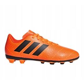 Buty piłkarskie adidas Nemeziz 18.4 FxG Jr DB2355 pomarańczowe wielokolorowe 1