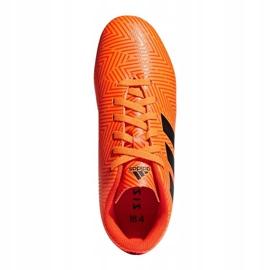 Buty piłkarskie adidas Nemeziz 18.4 FxG Jr DB2355 pomarańczowe wielokolorowe 2