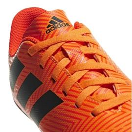 Buty piłkarskie adidas Nemeziz 18.4 FxG Jr DB2355 pomarańczowe wielokolorowe 3