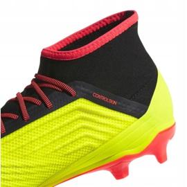 Buty piłkarskie adidas Predator 18.2 Fg M DB1997 wielokolorowe żółte 3