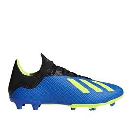Buty piłkarskie adidas X 18.3 Fg M DA9335 niebieskie wielokolorowe 1