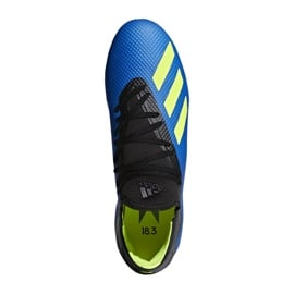 Buty piłkarskie adidas X 18.3 Fg M DA9335 niebieskie wielokolorowe 2