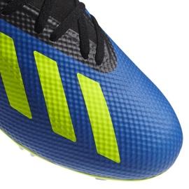 Buty piłkarskie adidas X 18.3 Fg M DA9335 niebieskie wielokolorowe 3