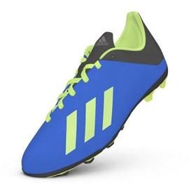 Buty piłkarskie adidas X 18.4 FxG Jr DB2419 niebieskie wielokolorowe 1