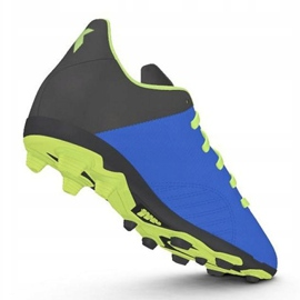 Buty piłkarskie adidas X 18.4 FxG Jr DB2419 niebieskie wielokolorowe 2