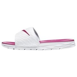 Klapki Nike Benassi Solarsoft Slide 705475-160 białe 2