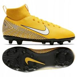 Buty piłkarskie Nike Mercurial Superfly 6 Club Neymar Mg Jr AO2888-710 żółte wielokolorowe 1