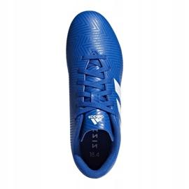 Buty piłkarskie adidas Nemeziz 18.4 FxG Jr DB2357 niebieskie wielokolorowe 1