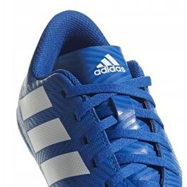 Buty piłkarskie adidas Nemeziz 18.4 FxG Jr DB2357 niebieskie wielokolorowe 3